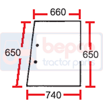 Geamuri  Tractor Massey Ferguson 610